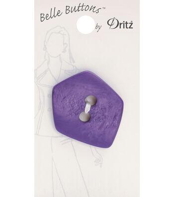 Belle Button-Fashion Purple Pentagon 37Mm