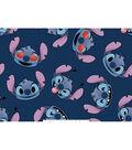 Disney Lilo & Stitch Fleece Fabric -Stitch Emoji Faces