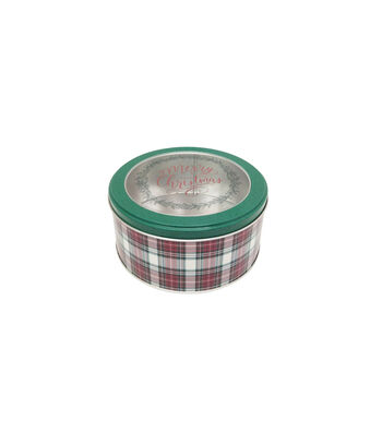 Maker's Holiday Small Round Cookie Container with Clear Top