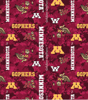 "University of Minnesota Gophers Fleece Fabric 60""-Digital Camo, , hi-res"