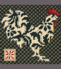 Black&White Rooster Mini Needlepoint Kit-5\u0022x5\u0022 Stitched In Thread