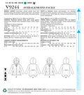 Vogue Pattern V9244 Misses\u0027 Paneled Jackets with Hood-Size 14-22