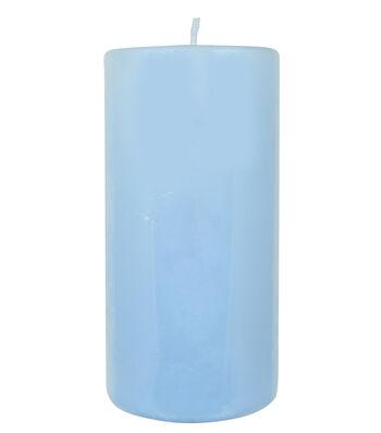 """Hudson 43 Pillar Candle 3""""x6""""-Dream Blue"""