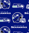 Seattle Seahawks Fleece Fabric 58\u0027\u0027-Logo