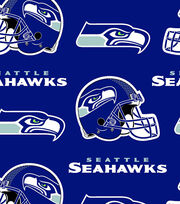 Seattle Seahawks Fleece Fabric 58''-Logo, , hi-res