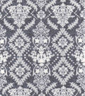 Luxe Flannel Fabric 42\u0022-Damask Gray Heather