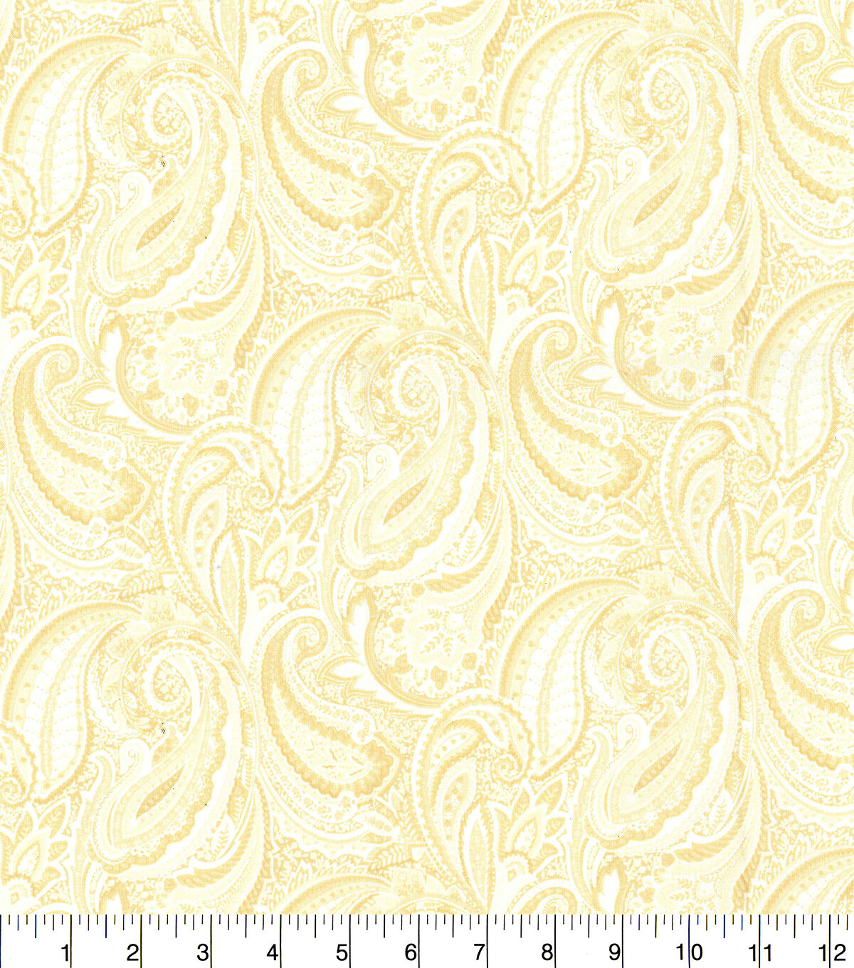 Calico Cotton Quilting Fabric #1665 Brown on White By the Yard