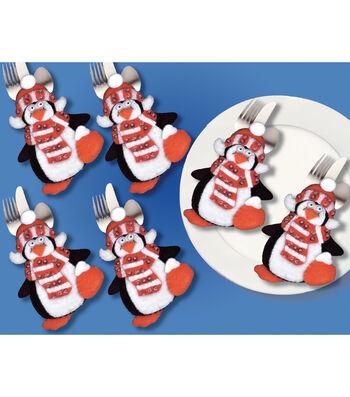 Design Works Crafts Silverware Penguin Pockets Applique Felt Kit
