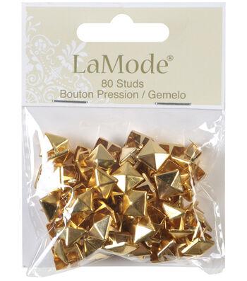 LaMode Pyramid Stud Shank Buttons-Gold