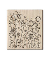 Hampton Art Outlines Wood Stamp-Summer Breeze, , hi-res