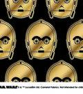 Star Wars Cotton Fabric 44\u0022-Metallic C3PO