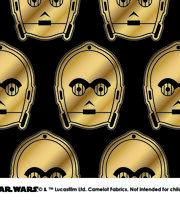 "Star Wars Cotton Fabric 44""-Metallic C3PO, , hi-res"