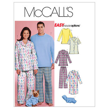 McCall's Patterns M5992 Adult & Pet Sleepwear-Size L-XL