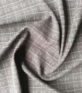 Refined Ponte Knit Fabric 58\u0022-Black & Gray Square Grid