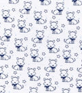 Nursery Flannel Fabric -Sketched Doggie
