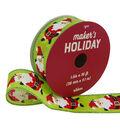 Maker\u0027s Holiday Christmas Ribbon 1.5\u0027\u0027x30\u0027-Dancing Santa on Green