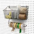 Spectrum Pegboard Basket with Paper Towel Holder