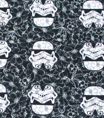 "Star Wars Cotton Fabric 58""-Stromtroopers Allover"