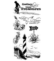 Inkadinkado Clear Stamps-Down By The Seaside, , hi-res