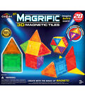CraZart 28pc Magrific 3D Magnetic Tiles Set