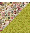 Nostalgia Double-Sided Cardstock 12\u0022X12\u0022-#11 Pet Postage Stamps