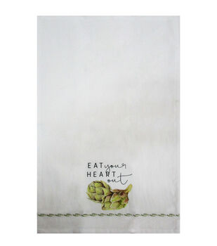 Simply Autumn Tip Towel-Eat Your Heart Out