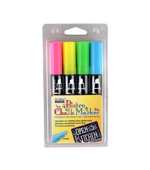 Chalk Marker Chisel Tip Fluorescent Set