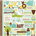 Echo Park Paper Company Bundle Of Joy Boy Cardstock Stickers Element