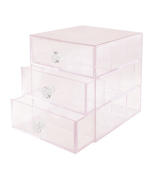 Acrylic Washi 3 Drawer Storage Unit