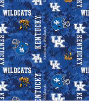 "University of Kentucky Wildcats Fleece Fabric 60""-Digital Camo, , hi-res"