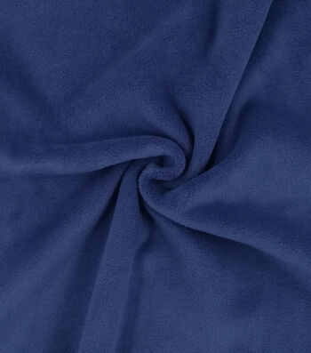 "Speciality Luxe Fleece Fabric 59""-Coastal Fjord Navy"