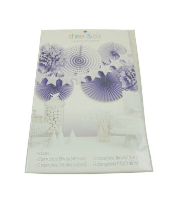Cheer & Co. Party Decoration Kit-Purple