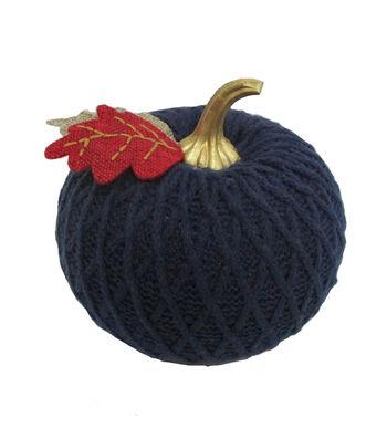 Simply Autumn Small Sweater Knit Pumpkin-Navy
