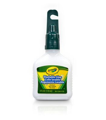 Crayola Washable No-Run School Glue-4 Ounce