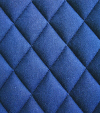 "Varsity Club Quilted Knit Fabric 55""-Navy & Gold Foil"