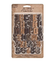 "Tim Holtz Idea-Ology 1"" 35/Pkg Wood Letterpress, , hi-res"