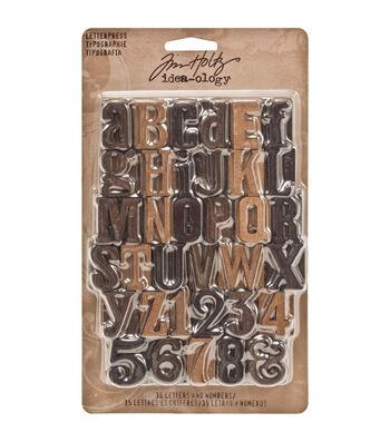 """Tim Holtz Idea-Ology 1"""" 35/Pkg Wood Letterpress"""