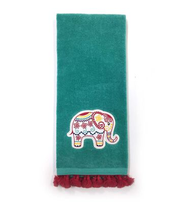 Hudson 43 Global Journey 16''x28'' Velour Terry Towel-Elephant