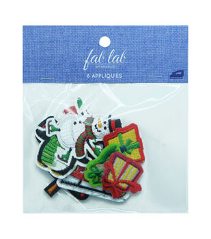 Fab Lab Wearables Christmas Holiday Iron-on Appliques Value Pack