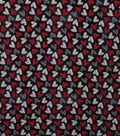 Valentine\u0027s Day Cotton Fabric-Chalkboard Hearts