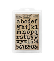 Tim Holtz Idea-ology Pack of 37 Type Lower Cling Foam Stamps, , hi-res