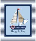 Nursery Cotton Fabric 42\u0027\u0027-Sailor Dog