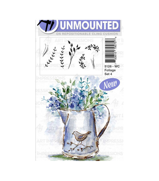 Art Impressions Watercolor Cling Rubber Stamps 4X7-Branches