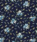 Vintage Cotton Fabric 43\u0022-Mini Floral Bouquet