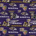 Baltimore Ravens Cotton Fabric-Retro