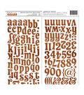 American Crafts Chipboard Alphabet Stickers 134/Pkg-Yuletide Carol