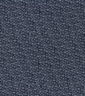 Patriotic Cotton Fabric 43''-Glow Sketched Stars