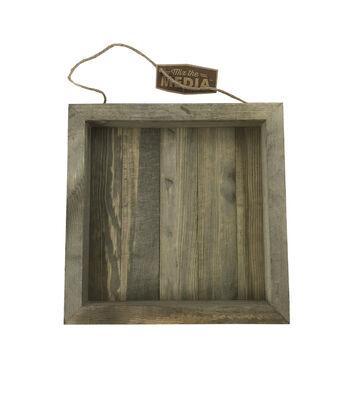 Rustic 10x10'' Frame Wood Plank