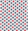 Patriotic Cotton Fabric -Bold Stars White