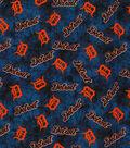 Detroit Tigers Flannel Fabric 42\u0022-Tie Dye